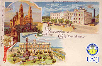 Antique Chihuahua Postcard from the University of Ciudad Juarez